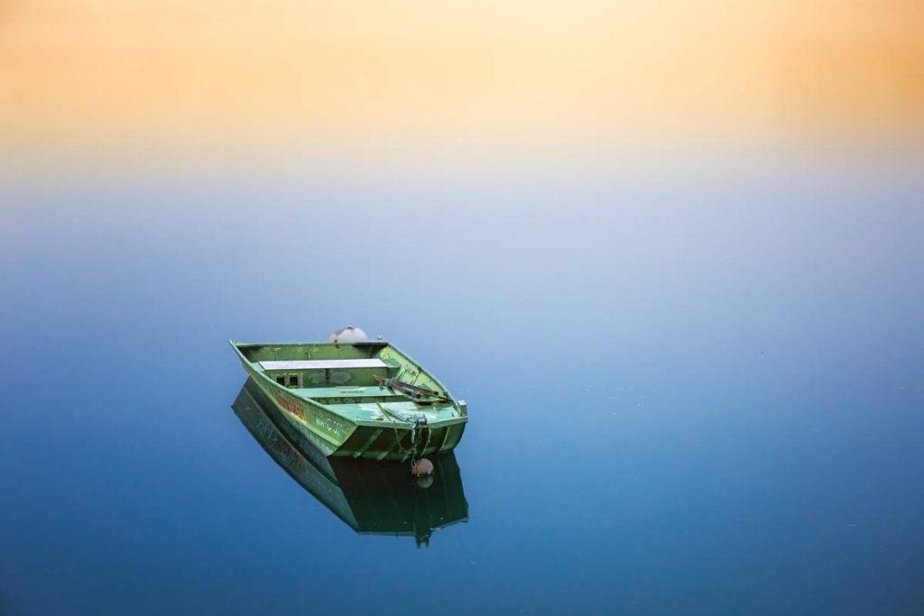 A Flat-Bottomed Planing Hull Fishing Boat