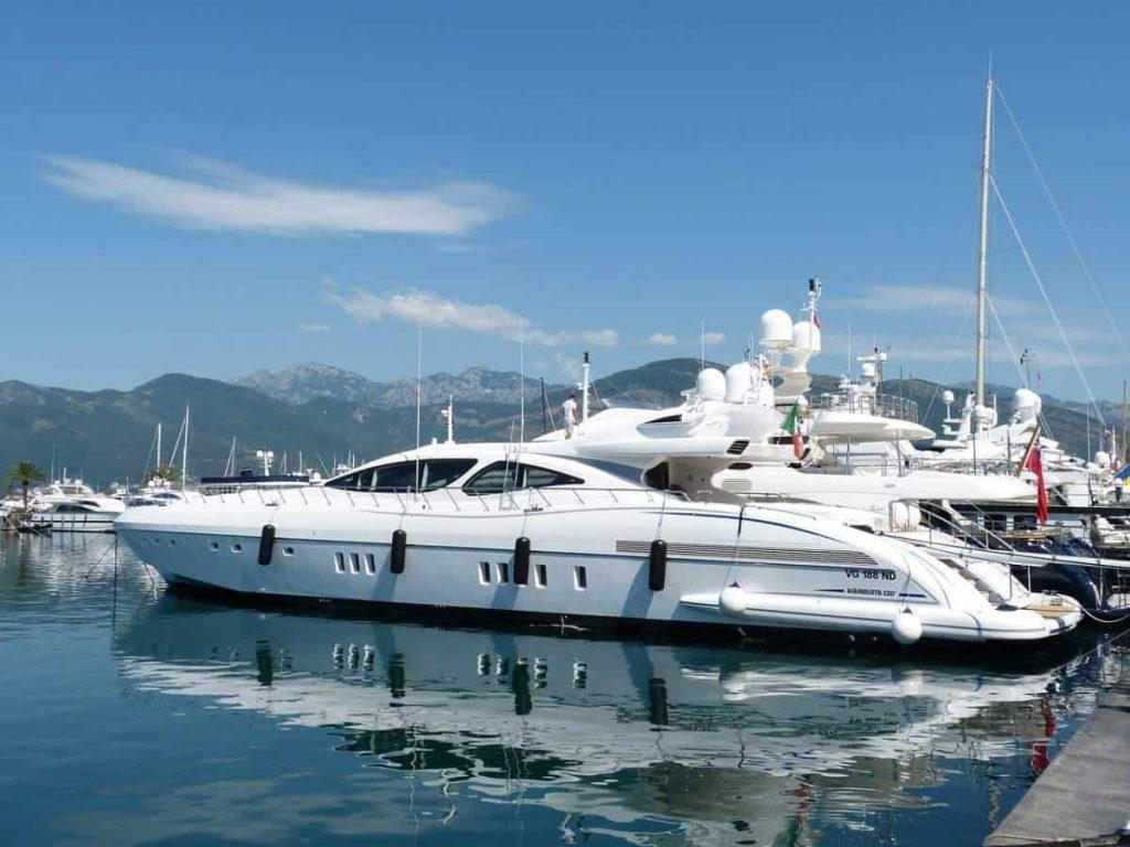 Yacht in Montenegro