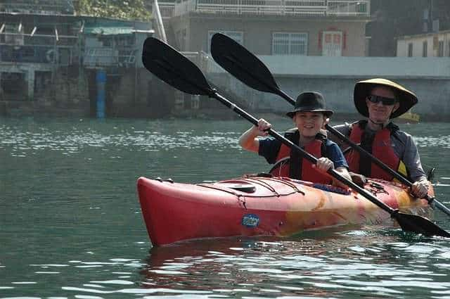 Kayaking gear.