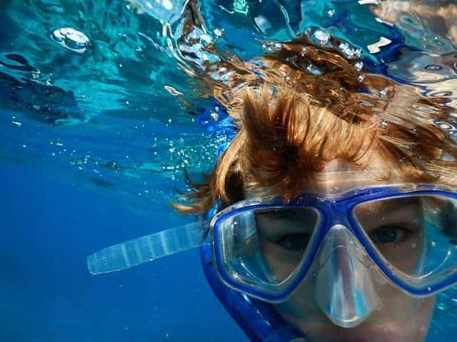 Snorkeling is a fun activity.