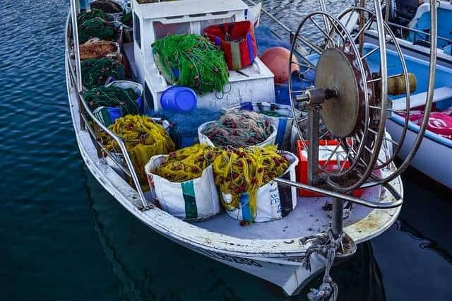 A boat loaded with gear in this file photo.