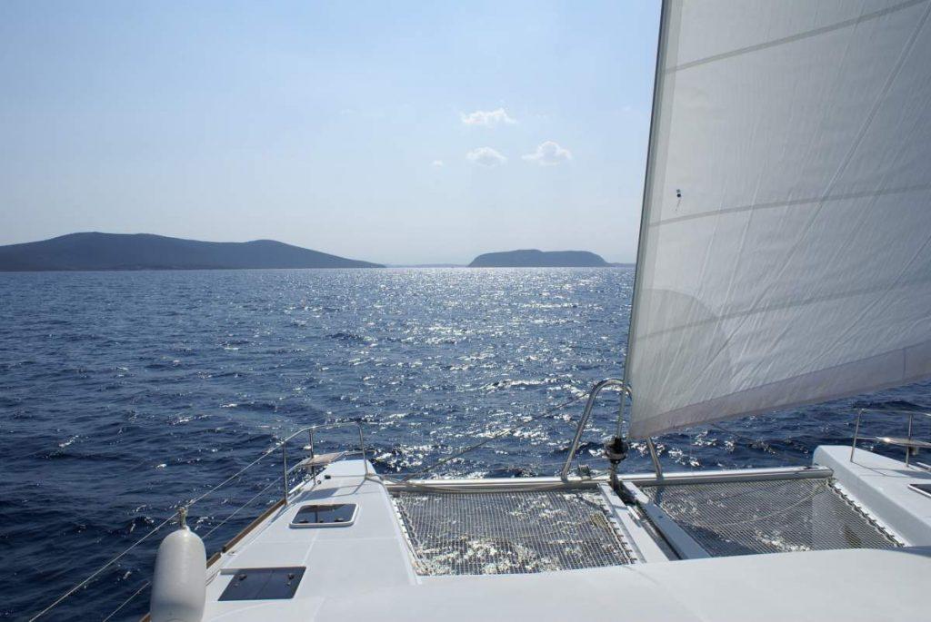 Sailing A Cat Off Greece