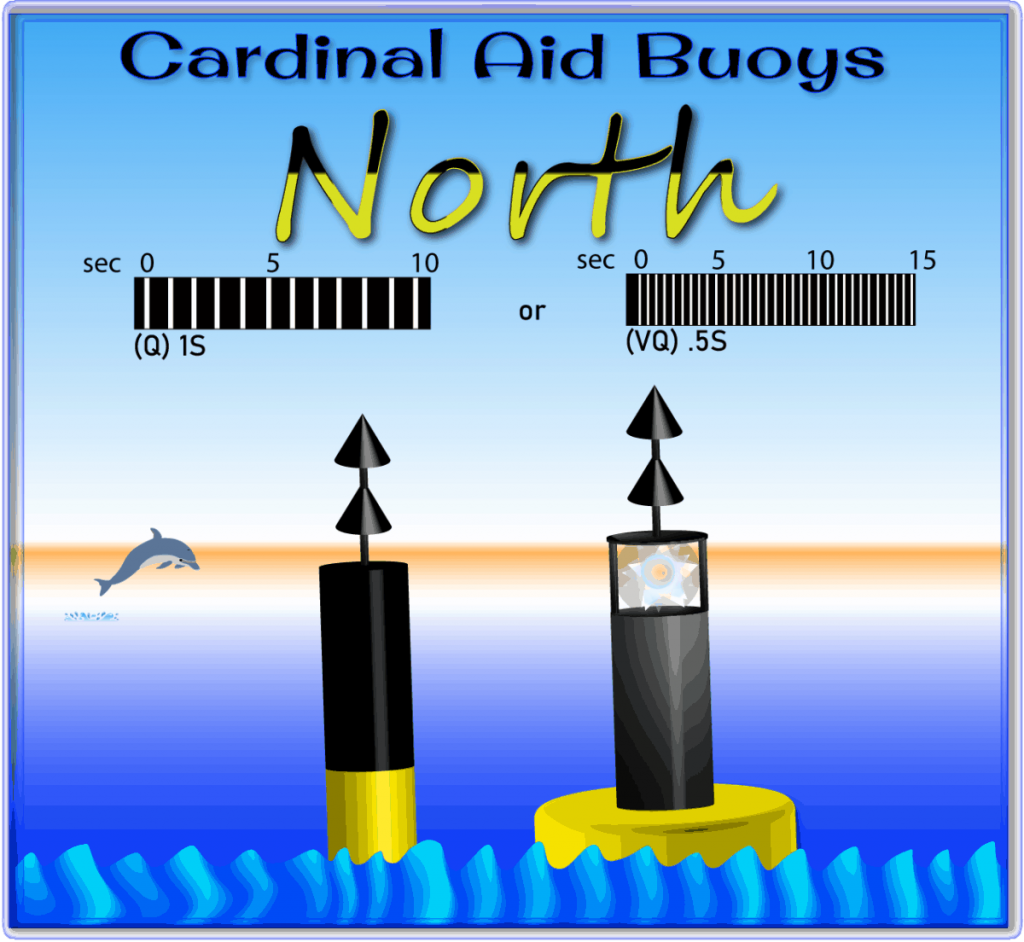 North Cardinal Aid Buoys are shown in this file graphic.