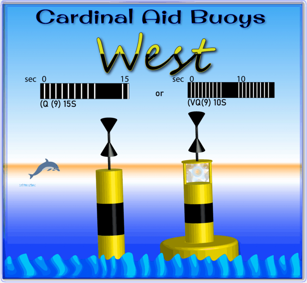 West Cardinal Aid Buoys are shown in this file graphic.