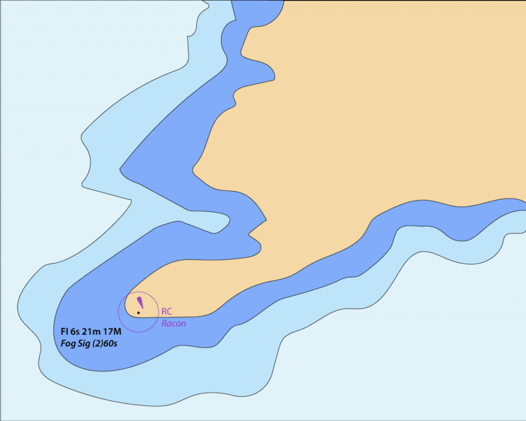 An example of a nautical map is shown in this graphic.