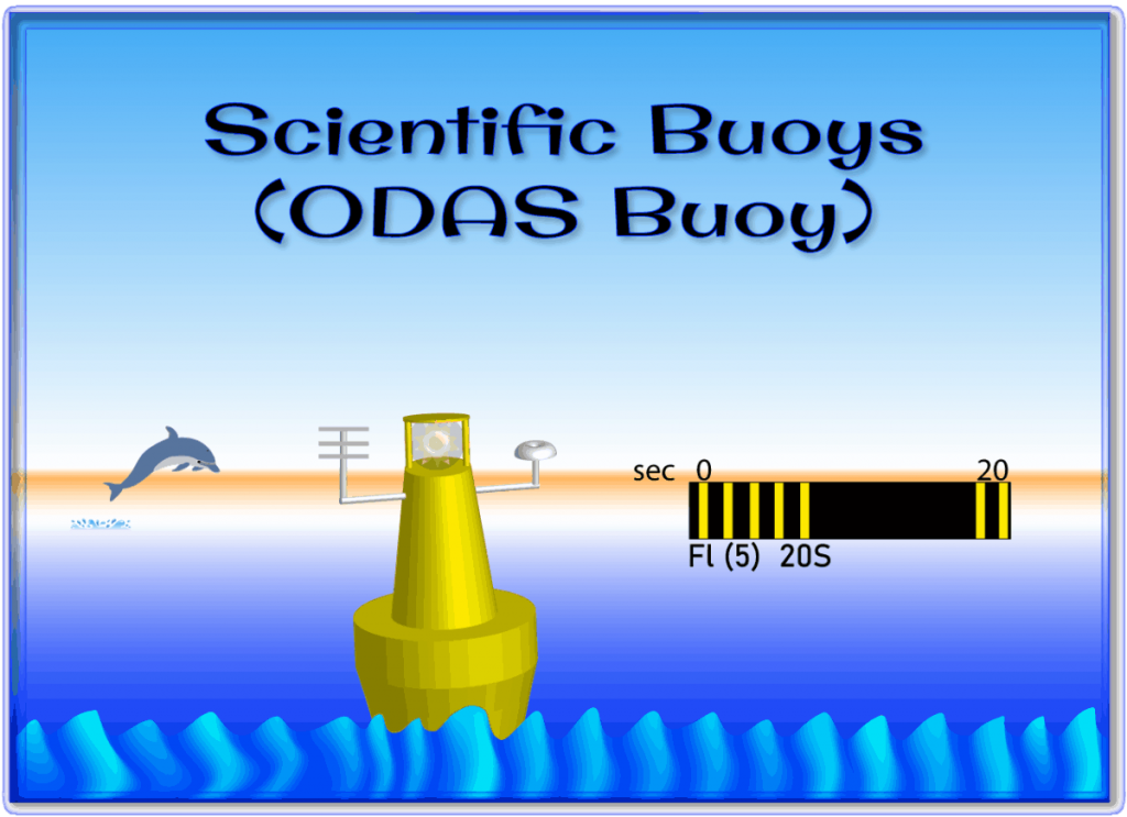 A Scientific Buoy also known as an Ocean Data Acquisition Buoy is shown in this file graphic.