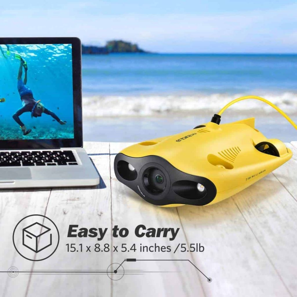 The highly portable Gladius - A mini underwater drone by Chasing