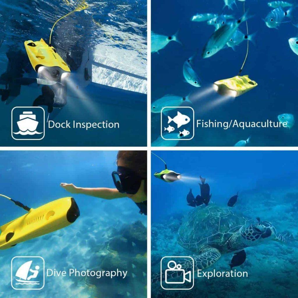 Gladius Mini Underwater Drone by Chasing