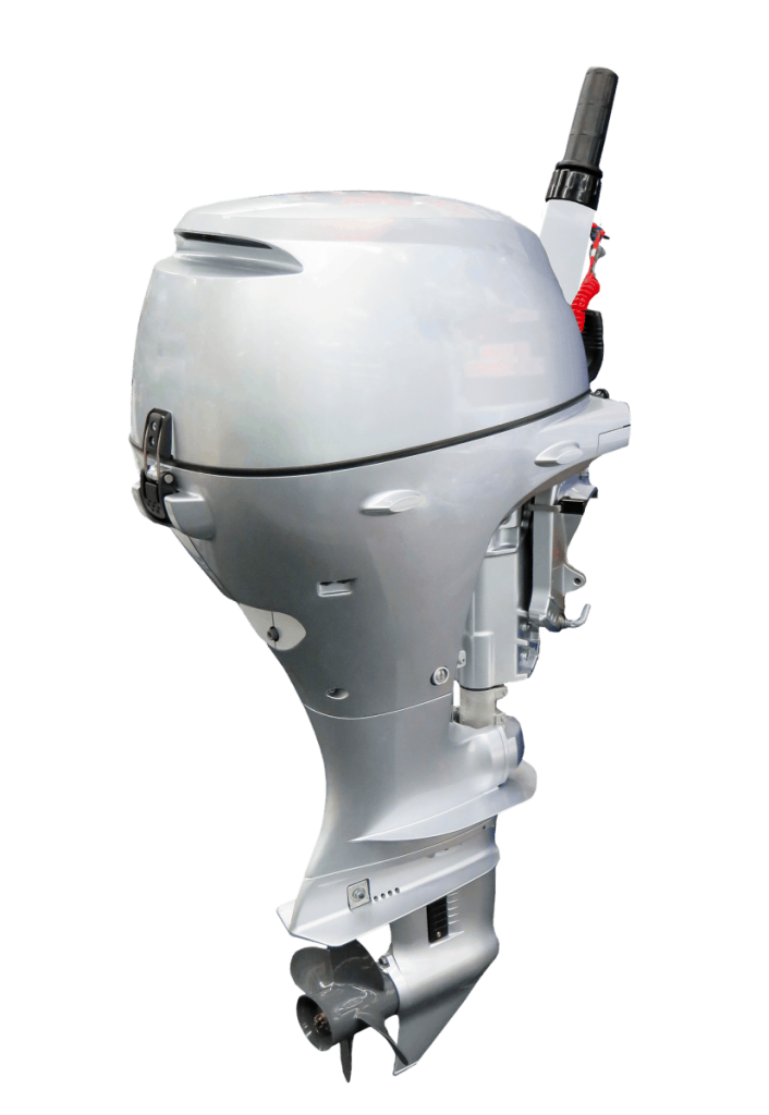 An outboard motor is shown in this image.