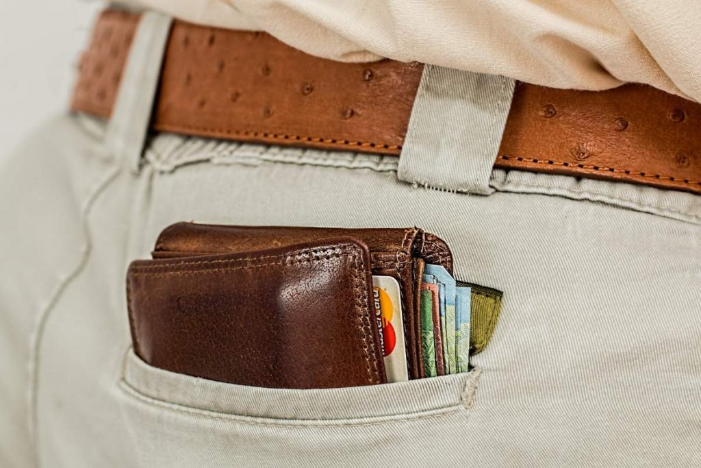 A wallet is shown.
