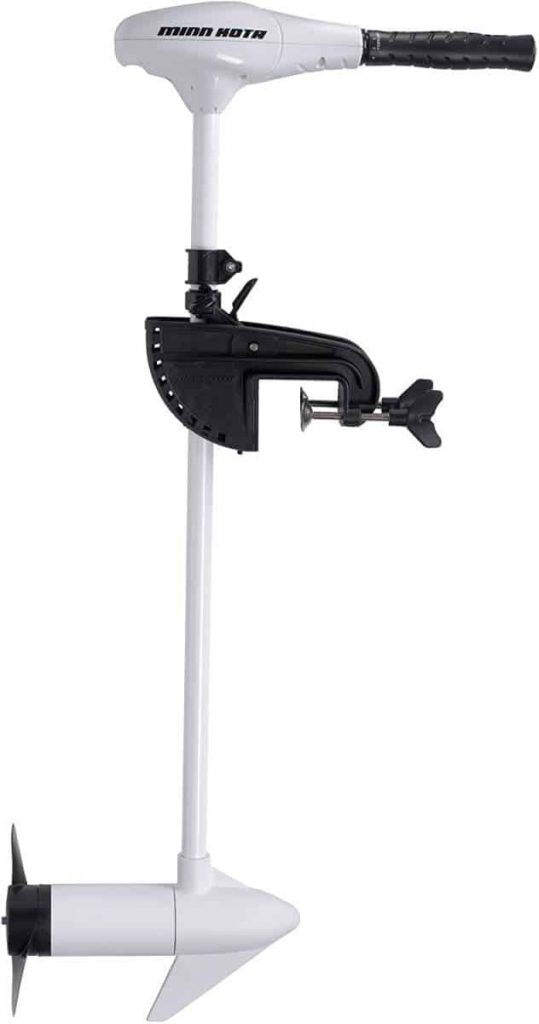 A white Minn Kota Riptide trolling motor is shown in this file photo.