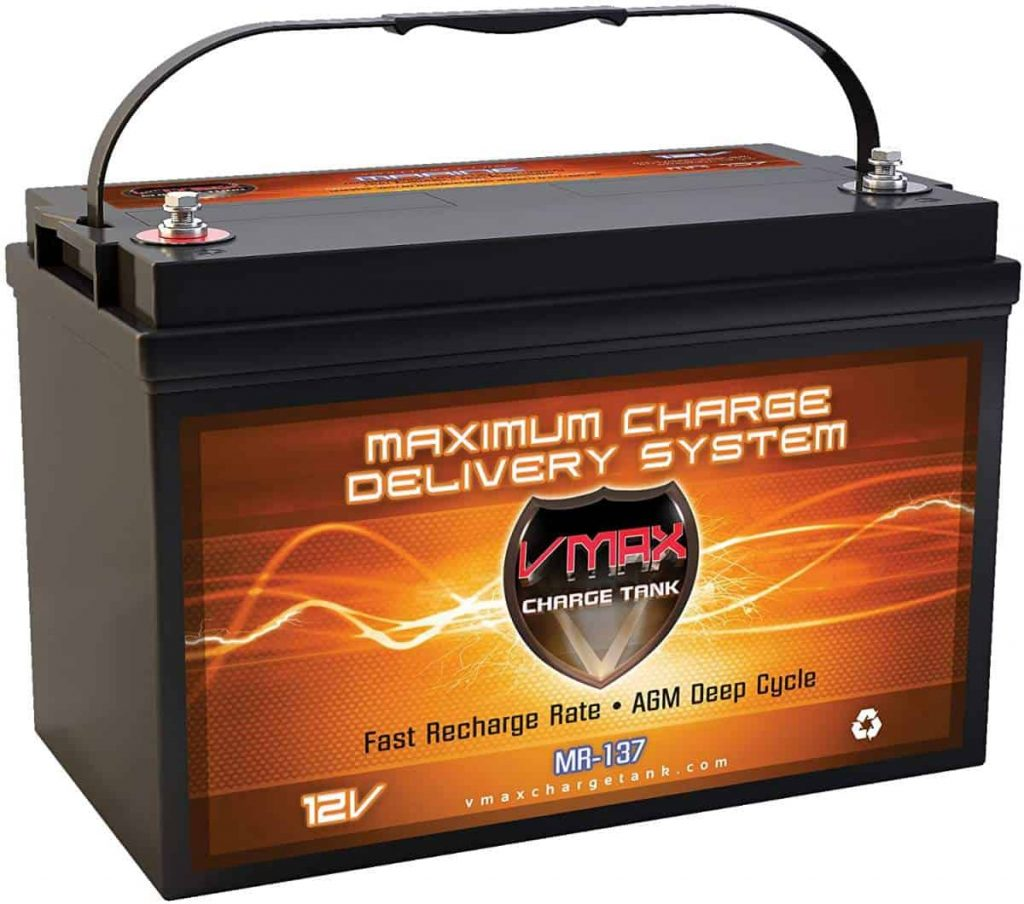 A VMAX MR-137 marine battery is shown in this file photo.