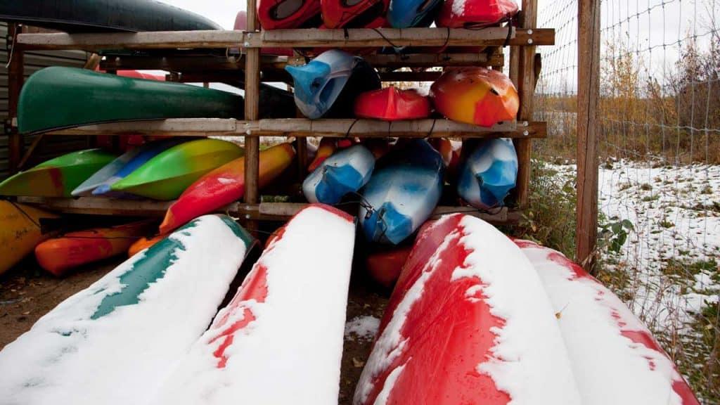 snow damage kayak