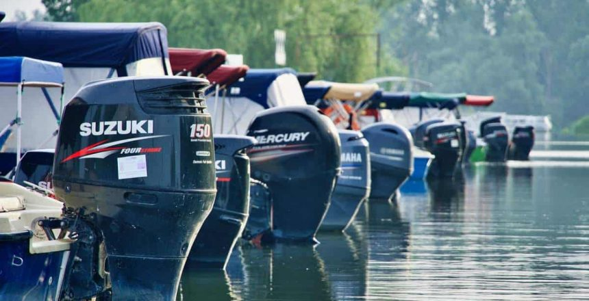 A picture of boat engines